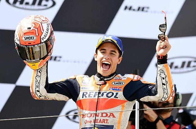 Pembalap MotoGP Marc Marquez. REUTERS/Annegret Hilse