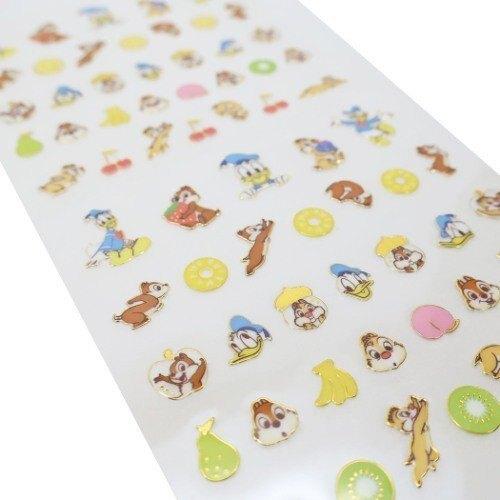 〔小禮堂〕迪士尼 奇奇蒂蒂 唐老鴨 造型燙金貼紙組《黃.角色》手帳貼紙.裝飾貼.黏貼用品