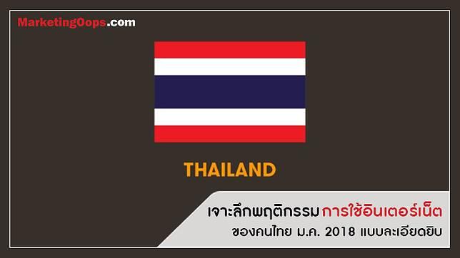 เจาะลึกพฤติกรรมการใช้อินเตอร์เน็ตของ คนไทย ม.ค. 2018 แบบละเอียดยิบ