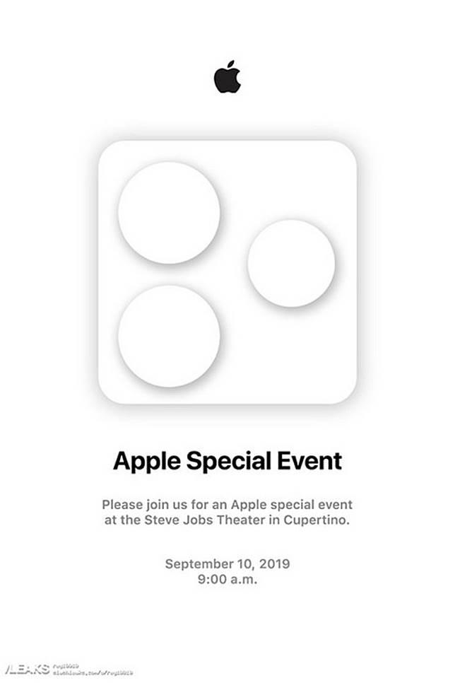 早前網上流傳的邀請函,但設計太張揚,明眼人都知不是Apple風格。(互聯網)
