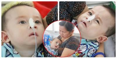 Đớn đau bị mẹ bỏ tại chùa, ánh mắt đờ đẫn van lơn của bé trai 7 tháng mắc bệnh bại não