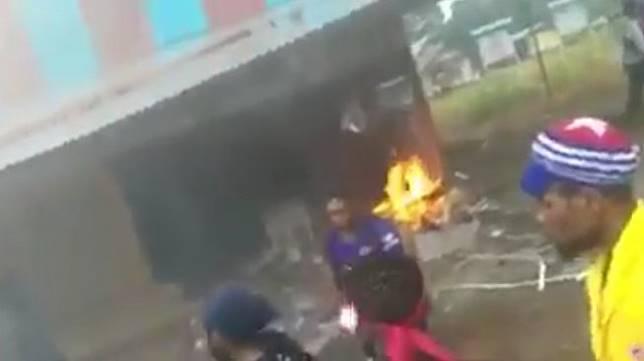 Kerusuhan di Manokwari Papua. (capture)