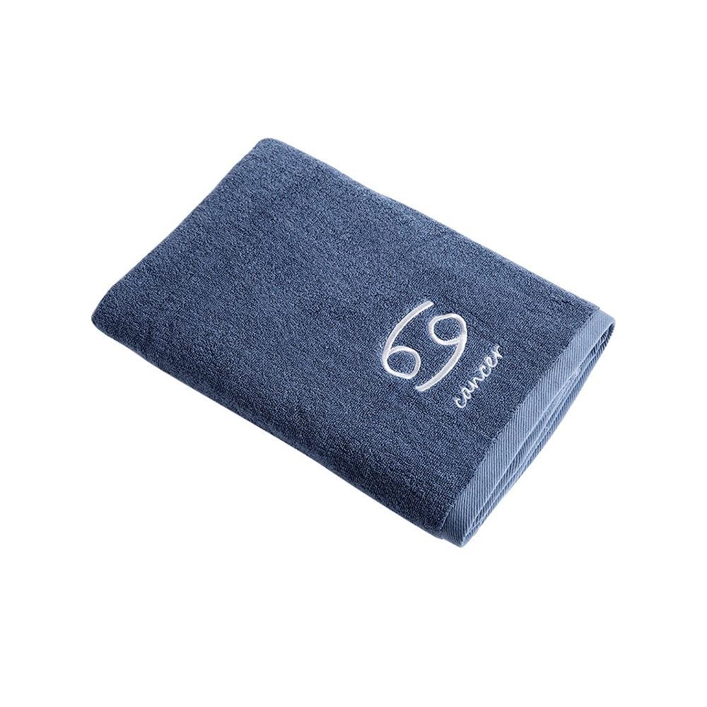 産品信息: 品名:星座全棉洗澡浴巾 型號:SY-201 材質:棉 款式:天秤座 水瓶座 雙魚座 摩羯座 巨蟹座 包裝:PE袋 重量: 465~520g 尺寸:140*70cm 出售方式: 1條 保固期
