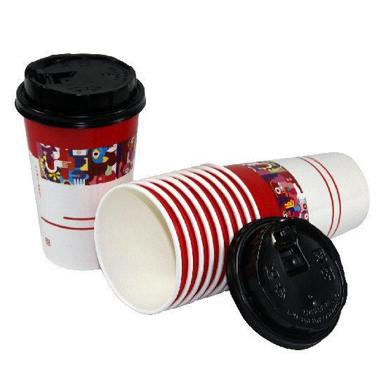 藝術咖啡紙杯蓋 (50個/串)