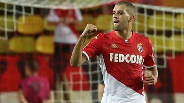 Penyerang AS Monaco pinjaman dari Leicester City, Islam Slimani. [VALERY HACHE / AFP]