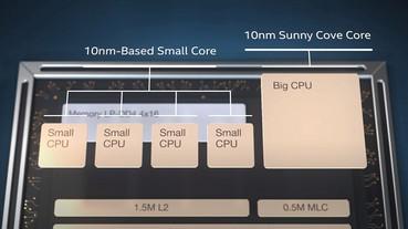 Intel 也邁入大小核架構,正式推出 3D 堆疊 Lakefield 處理器