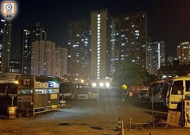 黃大仙道一個露天停車場發生襲擊傷人案。(葉嘉文攝)