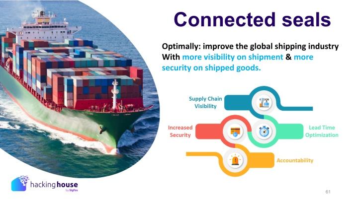 智慧封條可以增加追蹤貨櫃運送進度的能力,也可以讓貨主、海關察覺是否貨櫃在不尋常的情況下被開啟。