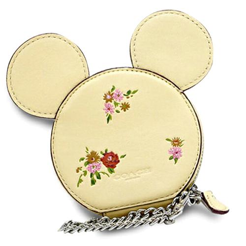 COACH 迪士尼聯名復刻零錢包-黃色