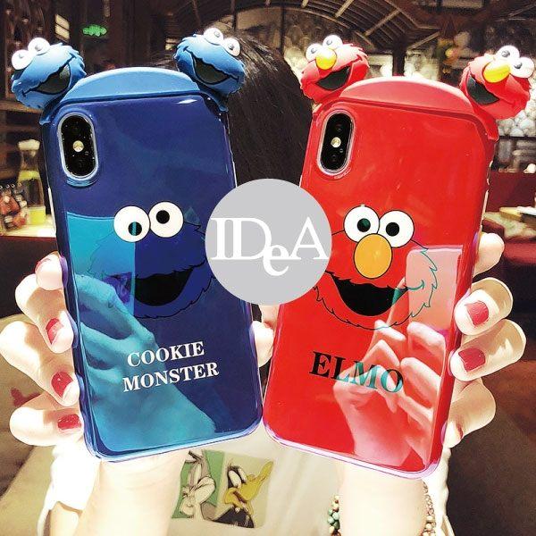 IDEA iPhone XR 芝麻街立體公仔手機殼 保護殼 軟殼 全包 防摔 Elmo 藍光 xr