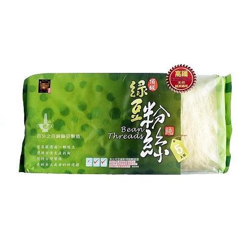 由100%純綠豆澱粉製成,精挑細選每一顆大油綠豆,其漂浮篩選淘汰率高達30%,並只取其中段綠豆澱粉,經由特殊生產技術精製而成。富含膳食纖維,並保有天然葉綠素、蘊含大自然的綠色能量,具有低GI、低卡路里