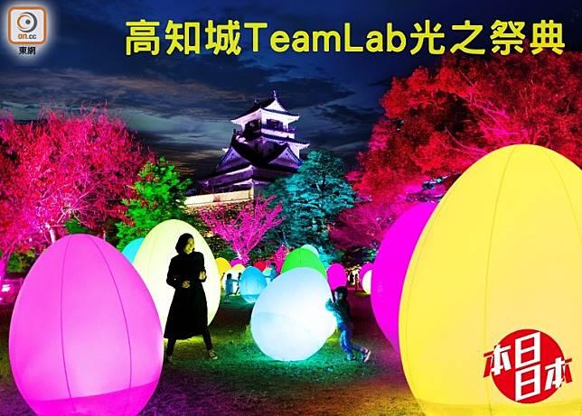 即日至明年1月13日,TeamLab會在高知城舉辦光之祭典!(互聯網)