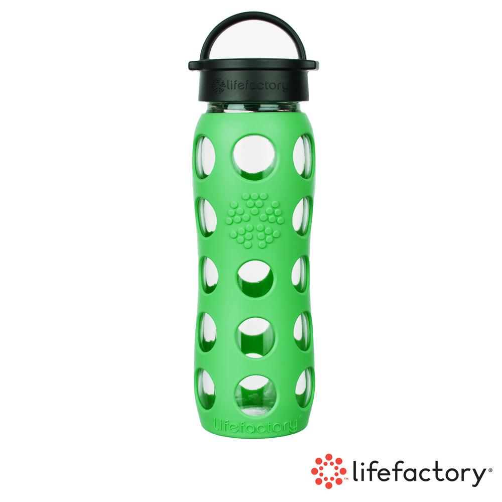 【Lifefactory】玻璃水瓶平口650ml-綠