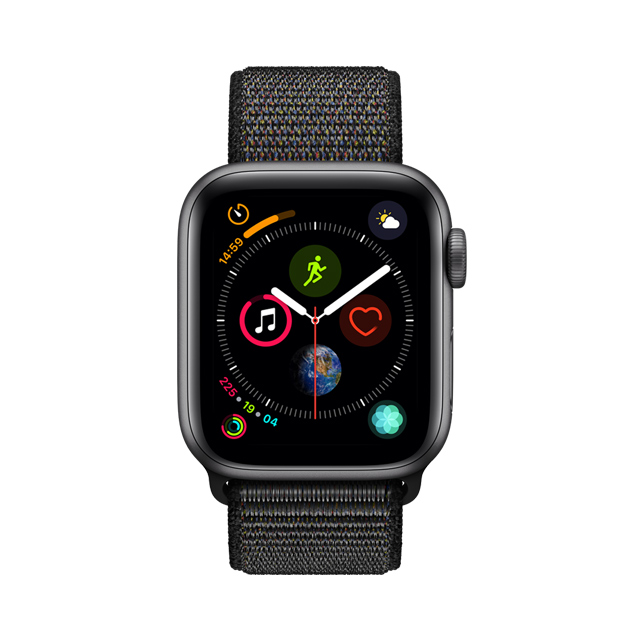 APPLE WATCH S4 44 SG AL BLK SL GPS-TWN-(MU6E2TA/A)