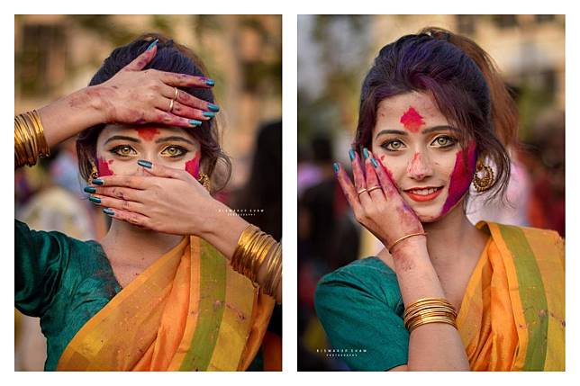 ▲漂亮的女孩在男人眼中「不分國界」。(圖/翻攝自 Biswarup Shaw 臉書)