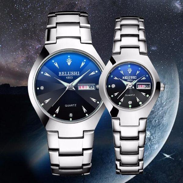 情侶對錶 男士手錶男石英錶防水學生男錶時尚潮流超薄女錶夜光正韓腕錶