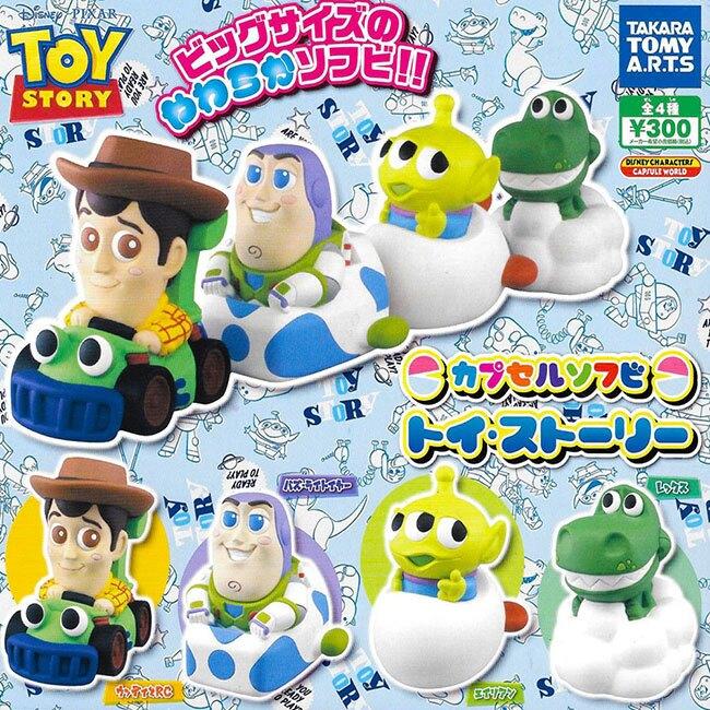 全套4款【日本正版】玩具總動員 Q版人物公仔 扭蛋 轉蛋 公仔 胡迪 巴斯光年 TAKARA TOMY - 867095