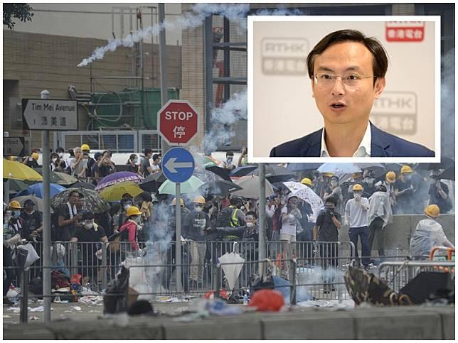陳沛然(小圖)指醫管局疑洩露參與集會的病人資料予警方。資料圖片