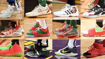 選手實著 / NBA 聖誕大戰五場對決 看看哪雙應景戰靴最深得你心