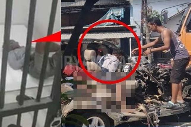 Jadi Satu-satunya Korban Selamat Kecelakaan Innova Vs Bus Mira di Nganjuk, Tohir Akui Pakai Pil Koplo Sebelum Tabrakan!