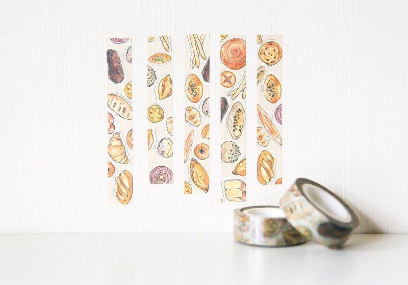 ░圓呼呼的可愛麵包~出爐囉~~ pingi色鉛手繪的波蘿,可頌,French bread...趕快妝點你的手帳吧!!