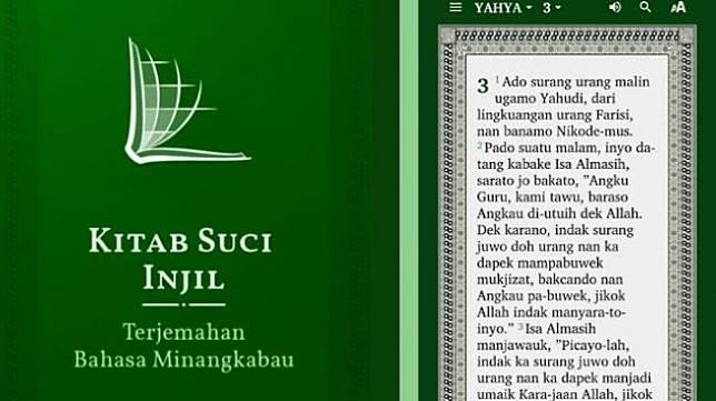 Kitab Suci Injil terjemahan Bahasa Minang. [Playstore]