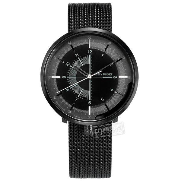 ISSEY MIYAKE 三宅一生 / NH35-0030SD.NYAK001Y / One-Sixth系列 機械錶 米蘭編織不鏽鋼手錶 鍍黑 43mm