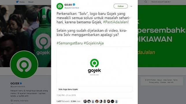 Logo baru Gojek. [Twitter]
