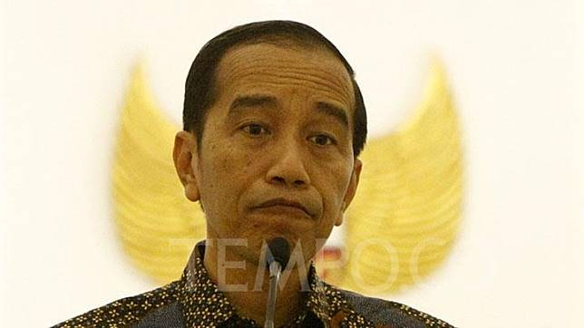 President Joko Widodo delivers a press conference on the delayed ratification of the Criminal Code Draft Bill (RKUHP) at the Bogor Palace, Friday, September 20, 2019.  TEMPO/Subekti