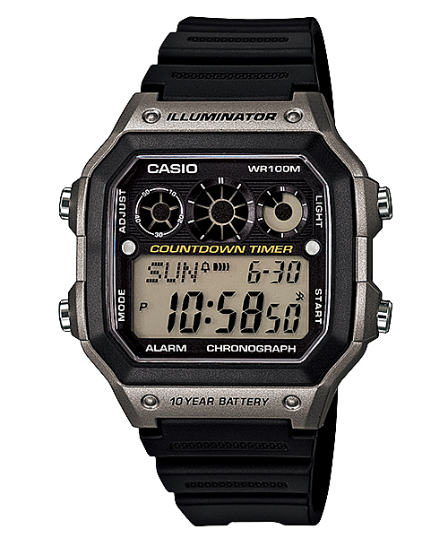 錶殼 / 錶圈材質:樹脂n樹脂錶帶n樹脂玻璃n防水100米nLED照明