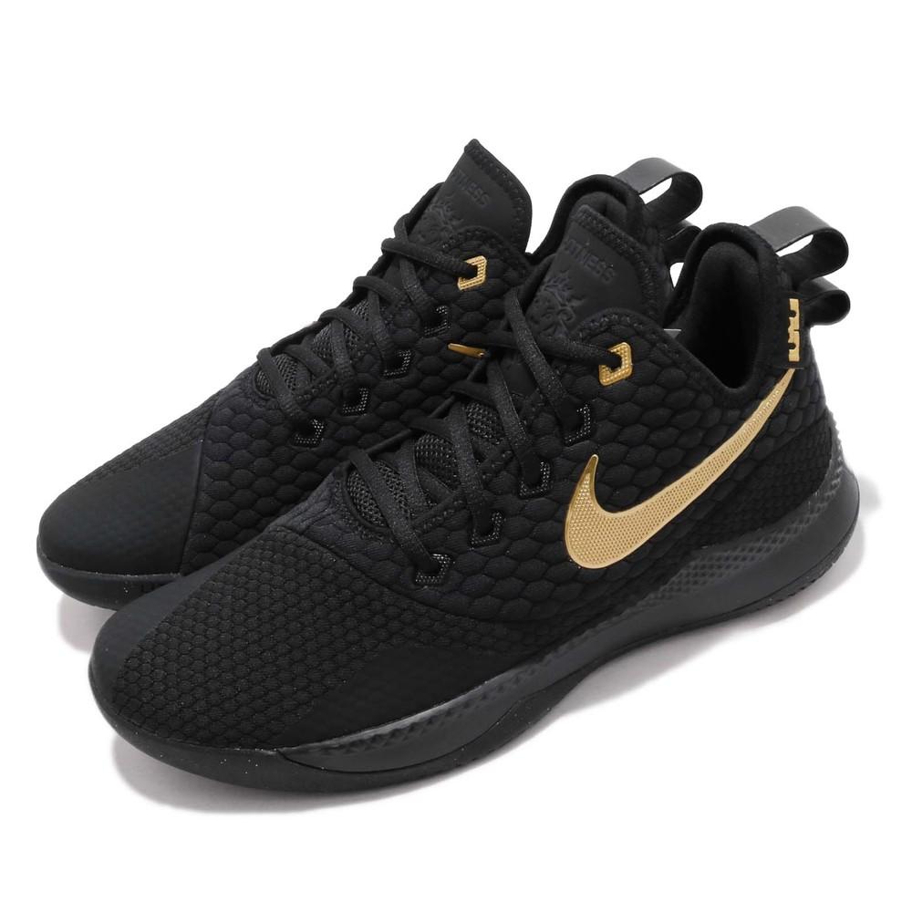 專業籃球鞋品牌:NIKE型號:AO4432-003品名:LeBron Witness III配色:黑色,金色