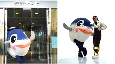 登日本電視!台南吉祥物「魚頭君」在國外出道 遊日景點成另類觀光大使!