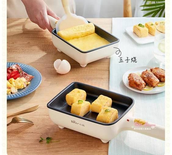 早餐機 小熊煎蛋器家用厚雞蛋燒捲餅機玉子燒小型插電不黏平底煎鍋早餐機 【交換禮物】