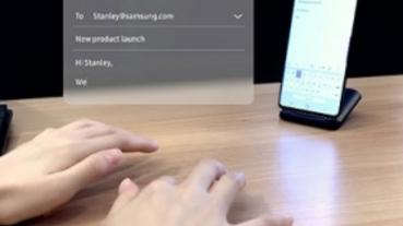 任何平面都能打字!三星 SelfieType 虛擬鍵盤技術讓你免買藍牙鍵盤
