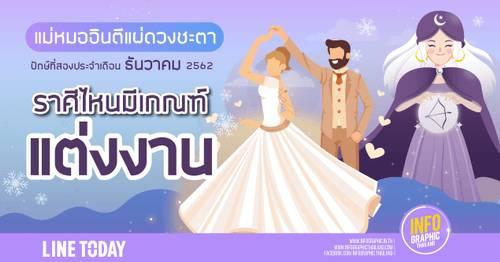 ดวงปักษ์ 2 เดือนธันวาคม 2562 ราศีไหนจะมีเกณฑ์ท้อง! ราศีไหนมีเกณฑ์แต่งงาน ราศีไหนมีเกณฑ์งานปัง ราศีไหนเงินรุ่ง มาเปิดดวงพร้อมกัน!