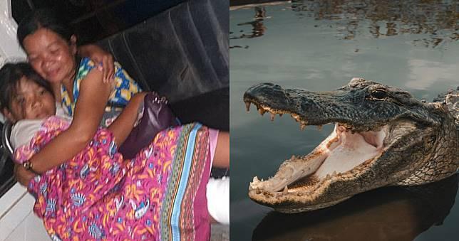 巨鱷衝出水面狠咬過橋女童 15歲兄砸石驚險神救援!