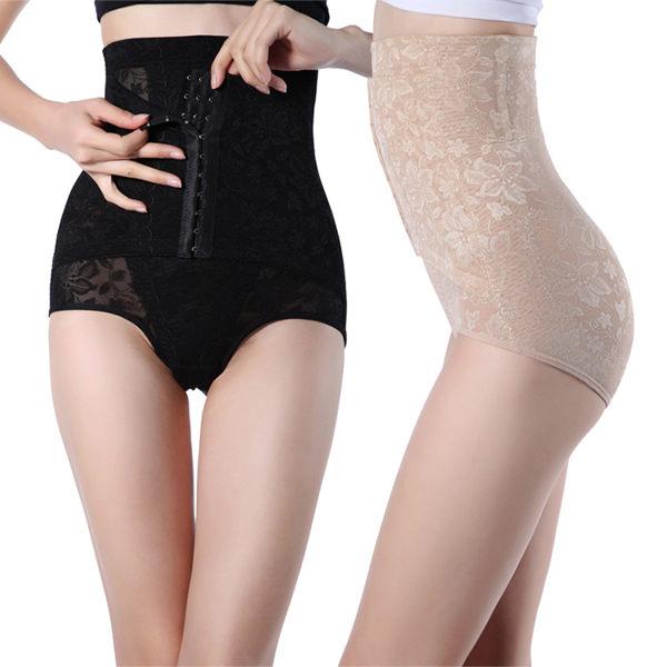 束腹褲塑身褲 收腹褲束腰 新款高腰 提臀 提花產後保養提臀內褲《小師妹》yf2338