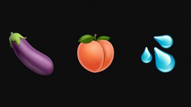 Emoji mengarah ke seksualitas. (emojipedia)