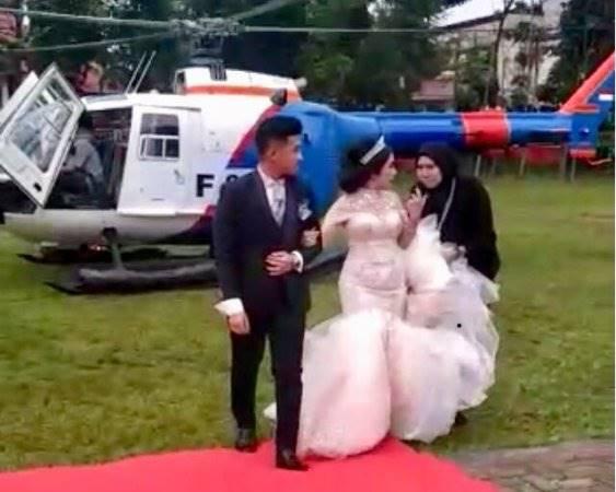 Heli Polisi Dipakai di Pernikahan Ternyata Disewa Rp120 Juta Lewat Broker