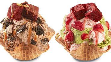 Hershey's巧克力冰淇淋在COLD STONE吃的到!耶誕新品推出「太妃糖巧克力冰淇淋」、「草莓抹茶」2款奢華口味!