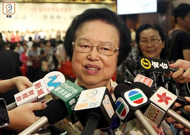 譚惠珠指不擁護基本法的人應當禁止參選及受到制裁。