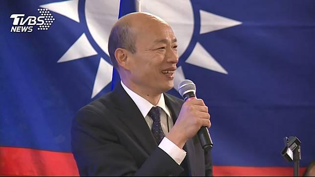 韓國瑜民調目前落後給蔡英文。 圖/TVBS