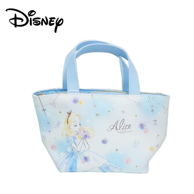 【日本正版】愛麗絲 皮革 保冷袋 手提袋 便當袋 愛麗絲夢遊仙境 迪士尼 Disney - 926598