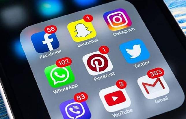 Social media illustration.