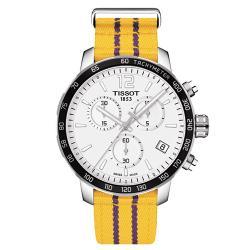 ◎原廠公司貨 型號:T0954171703705|◎球隊專屬顏色與隊徽後蓋|◎具備計時功能/日期顯示品牌:TISSOT天梭型號:T0954171703705使用族群:男錶手錶特性:三針錶帶材質:帆布錶