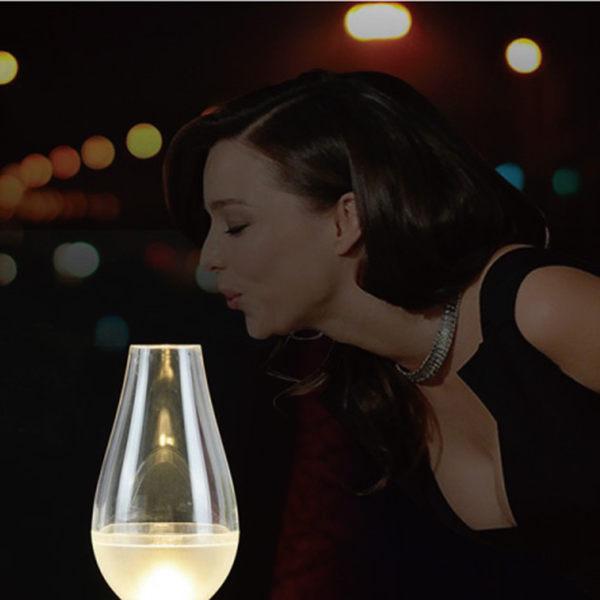 一吹即亮LED營燈『顏色隨機出貨』1600027 阿拉丁神燈 . 小夜燈. 電子燭燈 . 燭光晚餐用燈