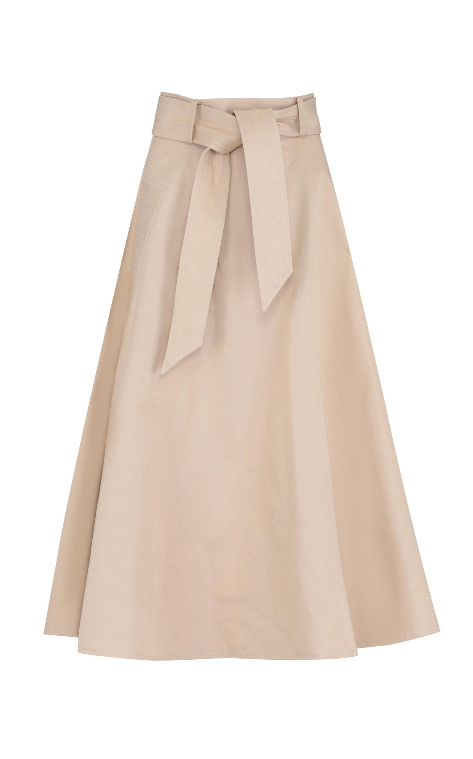Martin Grant Belted Cotton Midi Circle Skirt
