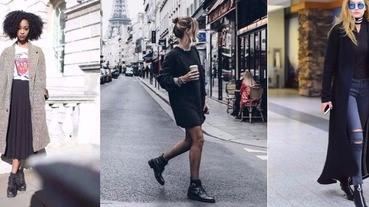 剛入手的黑短靴怎麼穿?快跟上潮人搭出本季時髦OOTD!