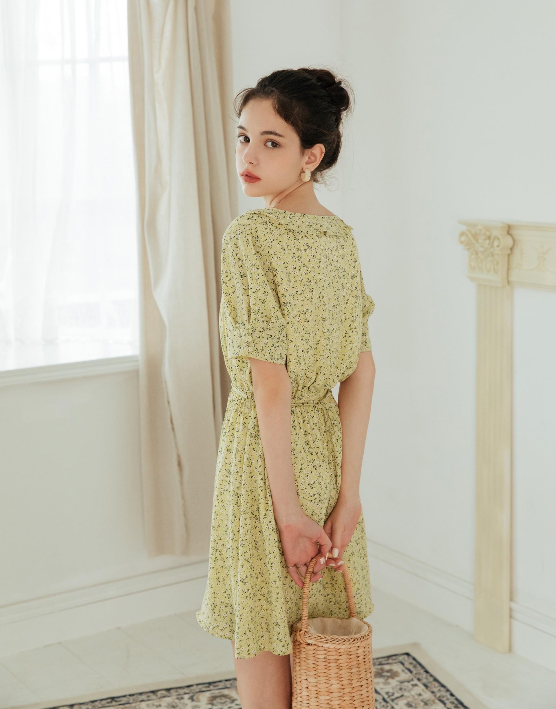 PAZZO+小法國渡假感碎花洋裝