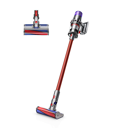 適用於硬質地板,配備軟質碳纖維滾筒吸頭